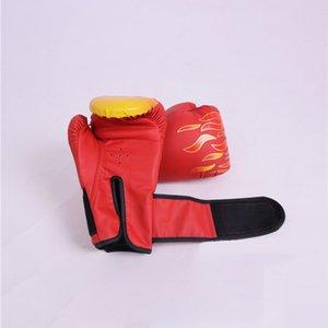 Couverture de haute qualité de la main d'adultes Gants de boxe en cuir Muay Thai Mitts Sanda Equipements respirant enfants Gants de boxe