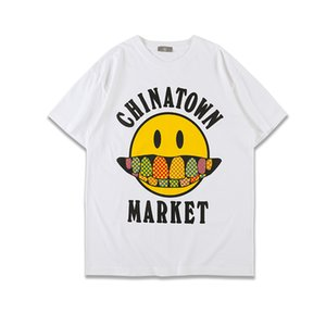 6 Colors Drew T-shirt Fangs China Town Market T Shirt Justin Bieber Tops Tees Men Women Red Blue T-shirts gunn