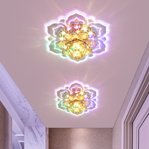 Crystal LED Spotlight Simple Modern Living Room Aisle Corridor Lights Embedded Surface Mounted Ceiling Light Porch Entrance Downlight