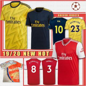 Tailândia Homens de Futebol 2019 2020 Lichtsteiner RAMSEY 2020 GUENDOUZI Futebol Uniformes Shirts Custom Made New Jerseys
