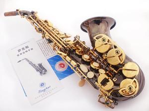 Nuovo Xinghai XSS-130G Bb Piccolo Curved Soprano Sax Black Nickel Oro Musical Instrument B Flat Sax con il caso di trasporto