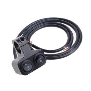 Dual 22mm Motorrad-Lenker Hohe Abblendlicht-Spot-Licht Eines Aus Schalter