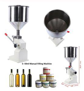 Máquina de enchimento manual manual manual da máquina de enchimento da máquina do enchimento 5 ~ 50ml para o shampoo creme Cosmetic Líquido Pasta de óleo de óleo