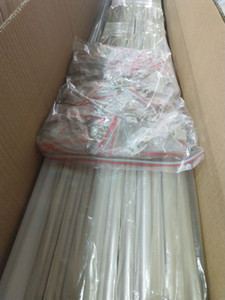 La alta calidad libre 2meters / pcs Translucence cubierta helada del aluminio de perfil, con tapas Pinzas de sujeción