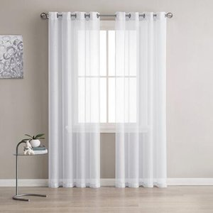 Europe Solid White Yarn Curtain Window Tulle Curtains For Living Room Kitchen Modern Window Treatments Voile Curtain