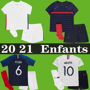 France soccer jersey football shirt Camisa de futebol de frança 2018 world cup 2019 crianças kit meninos equipe 100th aniversário GRIEZMANN POGBA MBAPPE uniformes de 100 anos