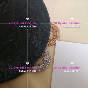 Nova moda broche de metal desinger círculo clássico logotipo da moda broche de moda acessórios presentes do partido