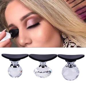 Preguiçoso Selo Sombra Crease Silicone Maquiagem Desenhar Ferramenta Fazer Preciso Sombra em Segundos Aplicador de Sombra de Olho com Crystal Ball Handle