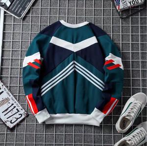 Sweat-shirt Homme et épissures de la mode féminine pull-over col rond loisir tricot grande taille sweat-shirt nouvelle usine de gros de style