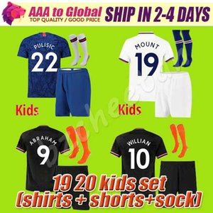Children kids 19 20 ABRAHAM MOUNT PULISIC soccer jersey football shirt BAKAYOKO Camiseta WILLIAN 2019 2020 KANTE KIDS KIT SETS socks UNIFORM