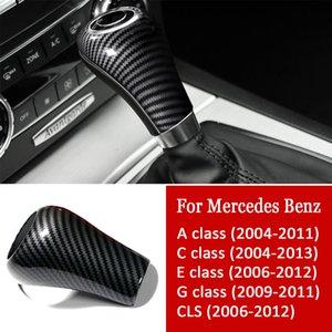 Fibra di carbonio Interni manopola del cambio di copertura autoadesivo dell'automobile che designa gli accessori per Mercedes-Benz W204 W212 A C E G Classe GLS