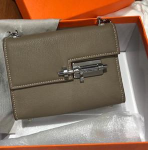 의 Cowskin 18CM 볼트 가방 2019 패션 가방 어깨 가방 여성 레이디 정품 가죽 핸드백 공장 도매