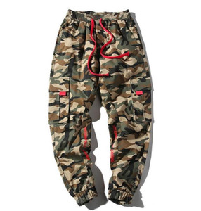 Pantalons Hiphop Camouflage Mode Crayon Pantalons simple Adolescent Drawstring Sweatpants Taille Plus Homme Vêtements Looes Mens Designer