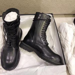Kadınlar Ann Martin Çizme Kısa Çizme Retro İngiliz Stil Ins Şövalye Boot Siyah Deri Ayak bileği Boots Vintage Ordusu Ayakkabı