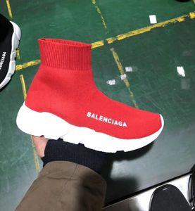 Zapatos de diseño CALIENTES Nuevos Hombres Mujeres Zapatos deportivos casuales Slip-on High top Tejido elástico rojo negro Estrellas Zapatillas deportivas Unisex Zapatillas 36-45