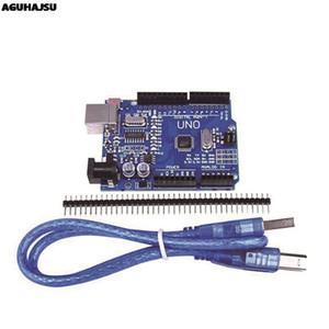 Componentes activos Integrated Circuits UNO R3 de Desarrollo Junta ATmega328P CH340 CH340G para Arduino UNO R3 Con Patilla recta