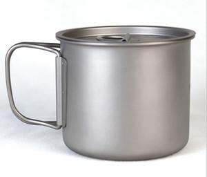 100% GR2 сверхлегкая версия Титановая чашка посуда сильный металл быстро нагревается, быстро охлаждается, может сэкономить место-складные ручки-легко чистится