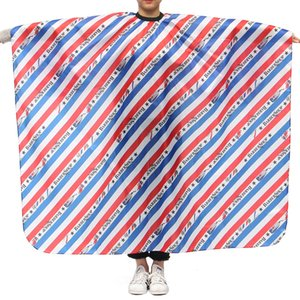 Waterproof Stripe Pattern Salon Barber Hair Dyeing Hair Cutting Gown Wrap Apron Soft Cloth Hairdressing Tools
