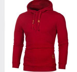 Satılık Katı Renk Sport Kapüşonlular Sonbahar İlkbahar Kapşonlu Casual Uzun kollu Tasarımcı Tişörtü Yüksek Kalite mens