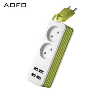 Travel Power Strip Portable Charging Station 4 USB Without Surge Protector Short Extension Cord for Office Business Trip