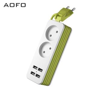Travel Power Strip Портативная зарядная станция 4 USB без сетевого фильтра Короткий удлинитель для офиса / командировки