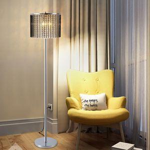 Новый дизайн современная творческая роскошь D 35см x H 158см Кристалл черный напольные светильники светодиодные стоячие лампы для читального зала спальня диван сторона