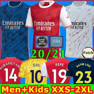 TOP Arsen soccer jersey 20 21 PEPE NICOLAS CEBALLOS HENRY GUENDOUZI SOKRATIS BLACK LIVES MATTER 2020 2021 football shirt Men + Kids kit