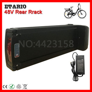 EU US No Tax 48V 8AH 10AH 12AH 13AH 15AH 18AH 20AH Rear Rack Battery Pack Electric Bike Lithium Battery E-bike Battery + Charger.