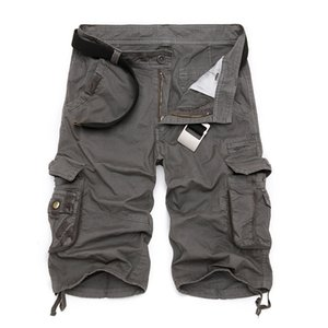 2019 новые шорты грузовые мужчины лето горячая распродажа качество случайные мужские шорты хлопок камуфляж военная мода мужские шорты карго плюс 40 MX190718