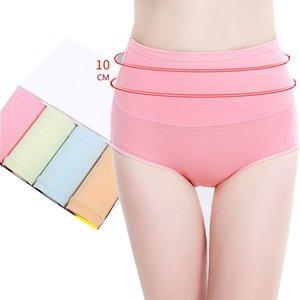 LANGSHA 5Pcs lot Women Panties High Waist Slimming Briefs Soft Cotton Breathable Lingerie Sexy Female Underwear Plus SizeXXL CX200605