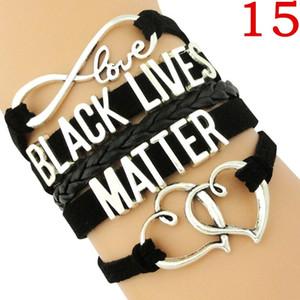 Lives Noir Matière Bracelet Je ne peux pas respirer la main Bracelet classique Bracelet pour Femmes Hommes Bijoux Soutien Cadeau Le cadeau noir