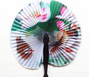 Impresión de nueva cosecha de flores de papel decoración del partido favores de la boda del ventilador a mano chino abanico plegable de fantasía Mujeres Muchachas de baile del ventilador