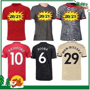 2020 Manchester ALEXIS Pogba RASHFORD ev uzakta 3 Soccer Jersey 20 21 UNITED yetişkin erkekler spor futbol forması
