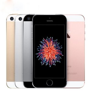 Refurbished Original iPhone SE Unlocked Cell Phone With Touch ID A9 IOS 9.3 4 Inch Dual Core 16GB 64GB 4G LTE