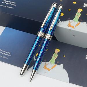 عالية الجودة الأزرق الداكن petit الأمير rollerball القلم مصمم حبر بوينت أقلام الكتابة أقلام ناعمة