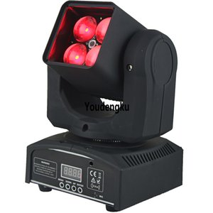 6 unids hot zoom led mini cabeza móvil manual 4X10w rgbw 4in1 mini cabeza móvil led luz de lavado zoom