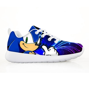 2020 New Kids Children's Shoes Sonic Sneakers for Children Boys Girl Pretty the Sonic Kids Comfortable Breathable Lace-up Shoes