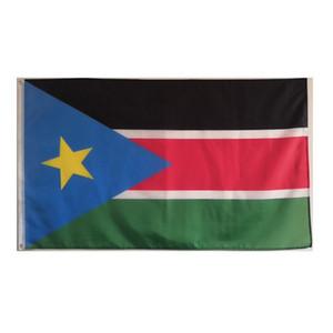 3X5 Südsudan oyee Flagge Staat hängend Werbung Polyester-Gewebe Digital gedruckten, freies Verschiffen, Tropfen-Verschiffen