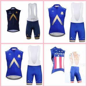 Aqua Blue Team Radfahren Sleeveless Jersey Weste BIB Shorts Sets Herren Sommer Fahrrad Rennkleidung Outdoor Sports X71901