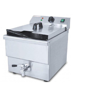 NEW Commercial Electric Chicken Deep Fryer Electric Deep Frying Machine Blast Furnace Single Cylinder Frying Pan