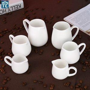 Creamer Behälter Milchkanne Cup Honig-Glas-Kaffee Containerjug Latte Milchschäumer Krug Pitcher Hand Espresso Pitcher Barista Craft