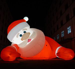 LED ile Noel dekoratif şişme Noel clau Dışarıda dekoratif şişme noel aydınlatma Santa Claus parkı ışıkları