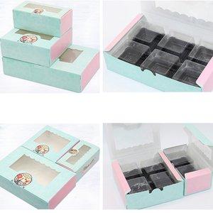 Événement Party Coffrets Cadeaux Sacs papier boîte-cadeau avec fenêtre de soirée de mariage Tour de Fer de papier Kraft gâteau boîte alimentaire