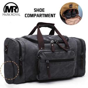 MARKROYAL холст обувь склад дорожные сумки мужчины вещевой обуви сумки подростков Crossbody сумки большой емкости выходные сумки для багажа Smx190905