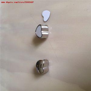 Nuevo estilo de sublimación en blanco corazón foto grano metal agujero grande 5 MM encantos europeos impresión de transferencia en caliente consumibles personalizados regalo del día de san valentín