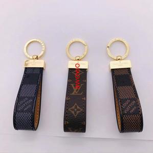 estilo do monograma de moda mulheres keychain homens low-key chaveiros pingente de luxo carro projeto fivela chave charme clássico com caixa