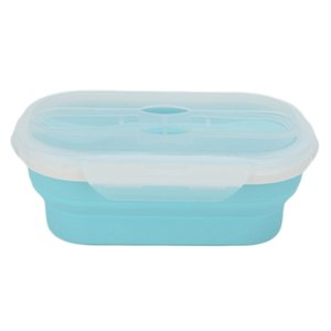 1 Piece Portable Folding Lunch Box Silicone Bento Foldable Foods Storages Containers Bottles Jars Boxes