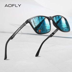 AOFLY мужские солнцезащитные очки алюминий магний храм антибликовое зеркало объектив вождения квадратные солнцезащитные очки мужской UV400