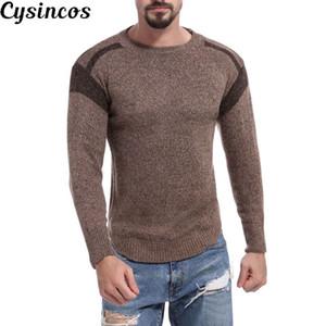CYSINCOS Marca Maschio Pullover Maglione Uomo maglia Jersey a righe Maglia Uomo Abbigliamento Maglieria Sueter Hombre Camisa Masculina