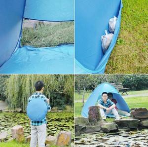 Tente de plage automatique Pêche Tente instantanée rapide Cabana Sun Abri pliable Meubles de jardin Outils d'extérieur Camping 9 Couleurs LQPYW1002